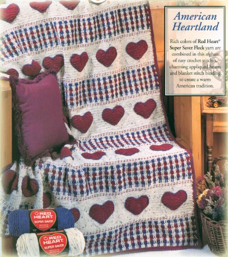 American Heart Crochet Afghan Pattern Free Crochet Blanket Patterns