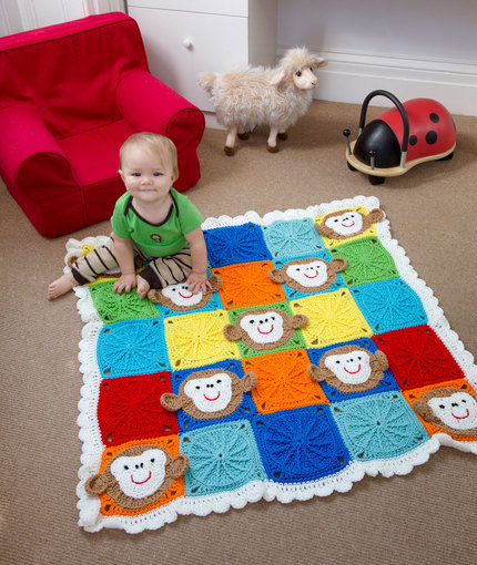 Monkey Around Baby Blanket