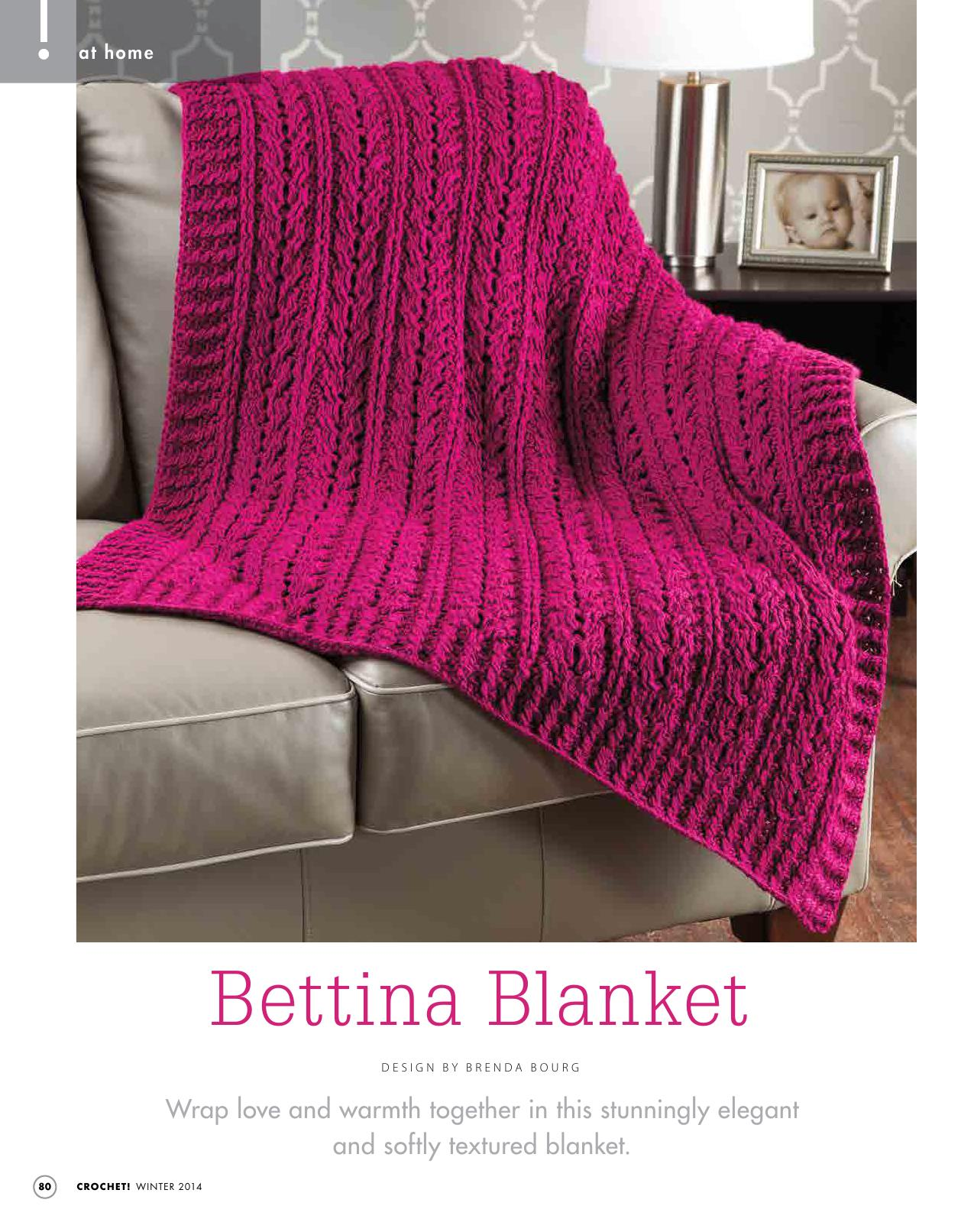 Bettina – Soft and Textured Blanket | Free Crochet Blanket Patterns