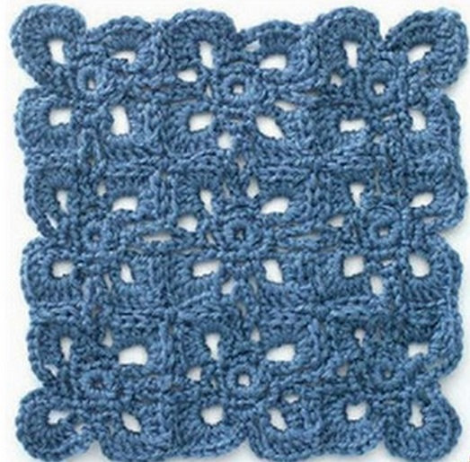 Turquoise Crochet Throw 4