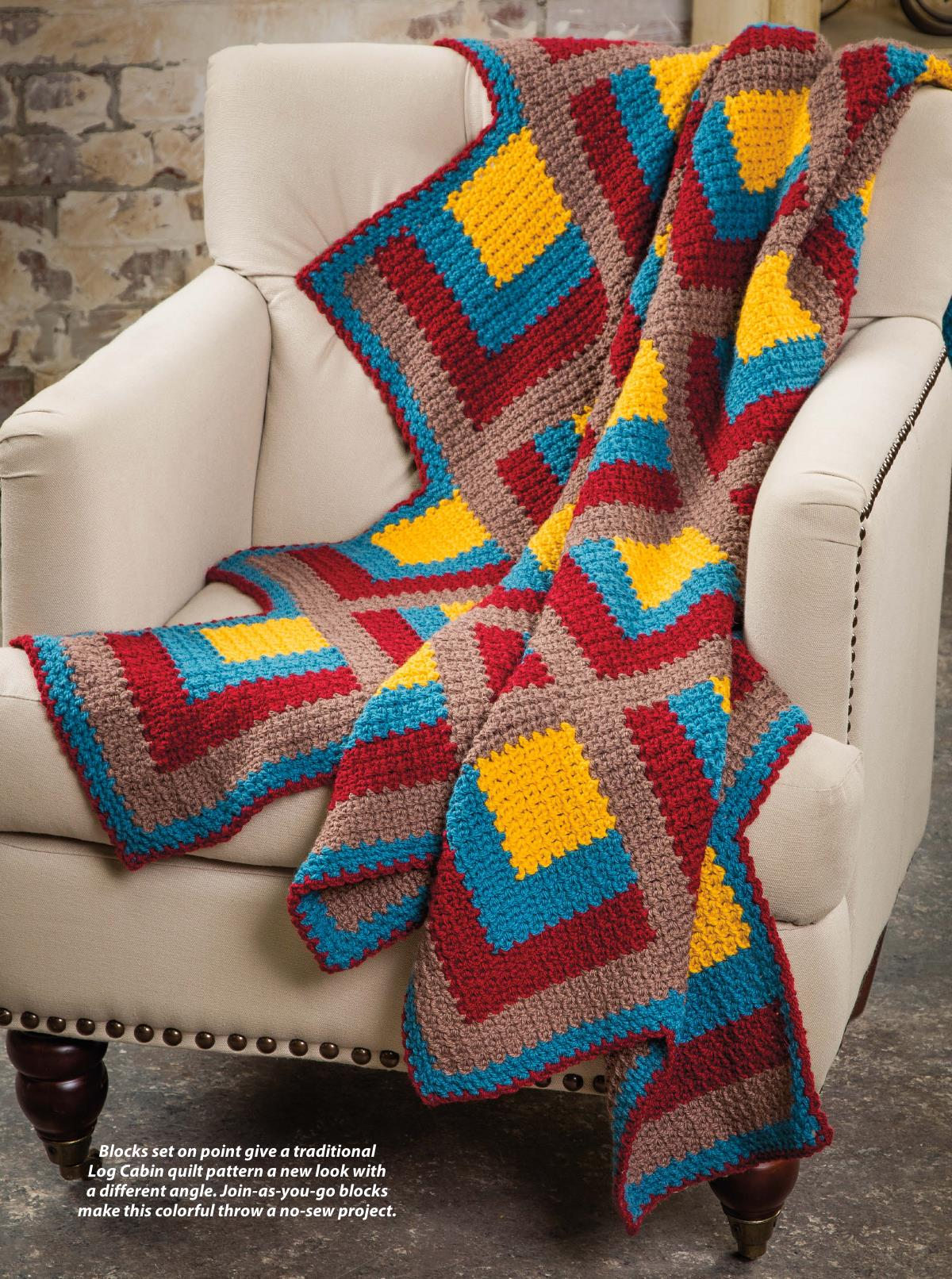 Cascading Squares Throw Crochet | Free Crochet Blanket Patterns : crochet quilt squares - Adamdwight.com