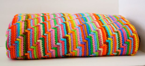 colorful crochet blanket pattern