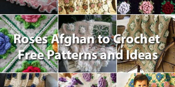 With Flowers Free Crochet Blanket Patterns