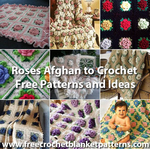 Roses Afghan to Crochet Free Patterns and Ideas
