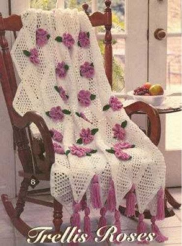 Many Roses Afghan To Crochet Free Patterns And Ideas Free Crochet
