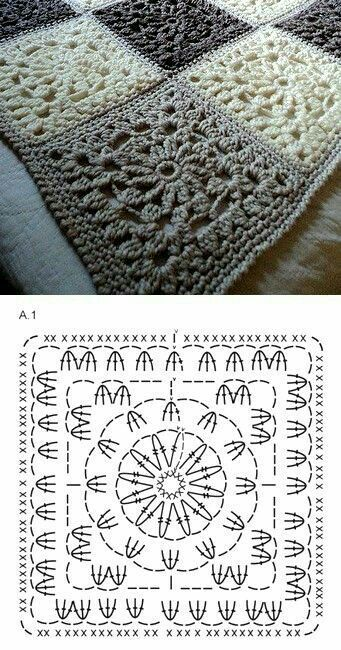 Circle in a Square Crochet Granny