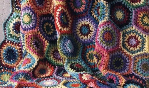 Rainbow Hexagon Throw