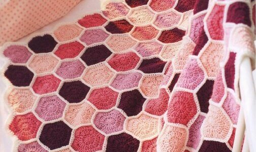Solid hexagon baby blanket